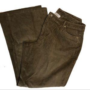 Ann Taylor LOFT Brown Corduroy Pants Womens Sz 16